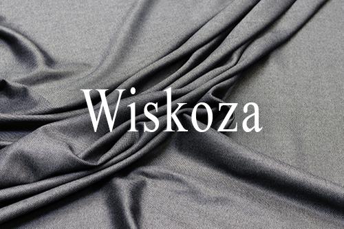 Fabric of bamboo and viscose. Gray-black tweed